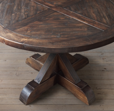 Table Large Wood Dining Round