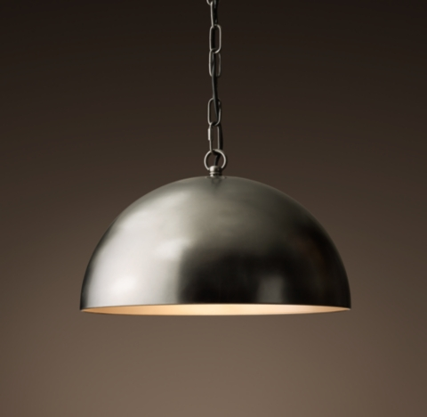 Large Metal Pendant Light