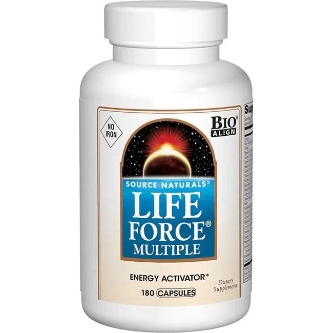 Source Naturals Life Force Multiple No Iron 180 Caps ...