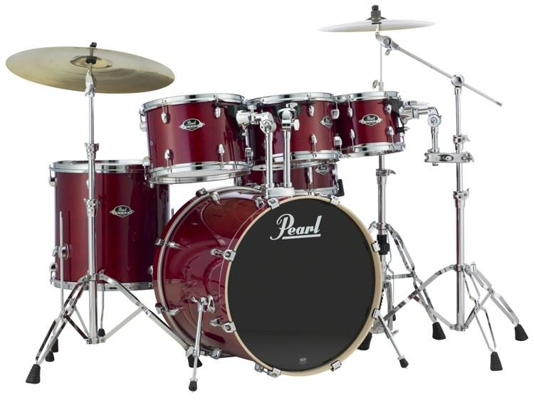 Pearl Export EXL 6 piece Drum Set with Hardware   Natural Cherry     Pearl Export EXL 6 piece Drum Set with Hardware   Natural Cherry image 1