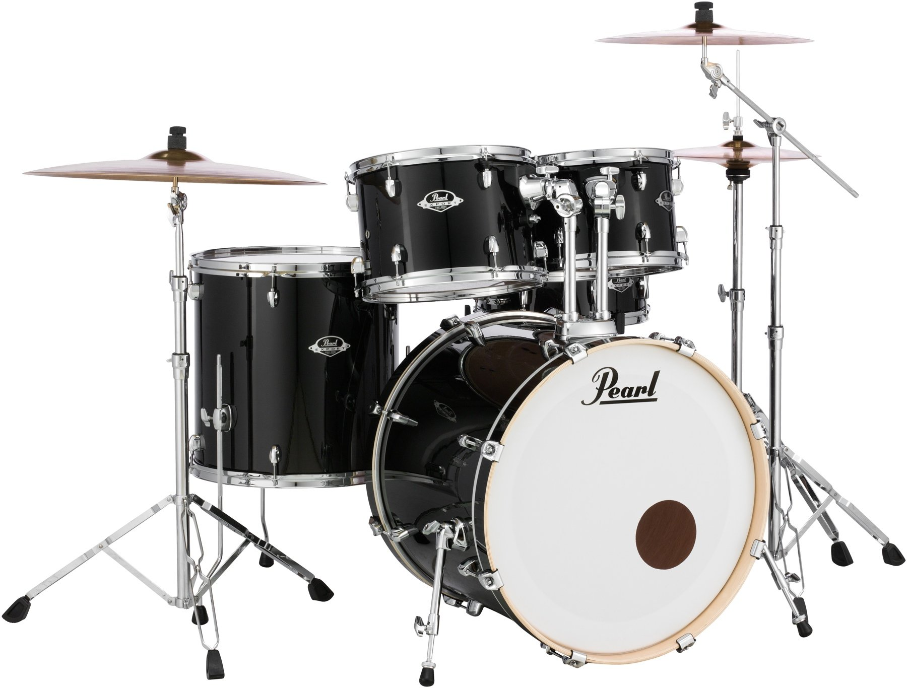 Pearl Export EXX 8 piece Double Bass Drum Set with Hardware   Jet     Pearl Export EXX 5 Piece Drum Set With Hardware   Standard Configuration    Jet Black