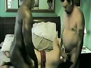 Husband with his wife gets horny to see her fucked by black