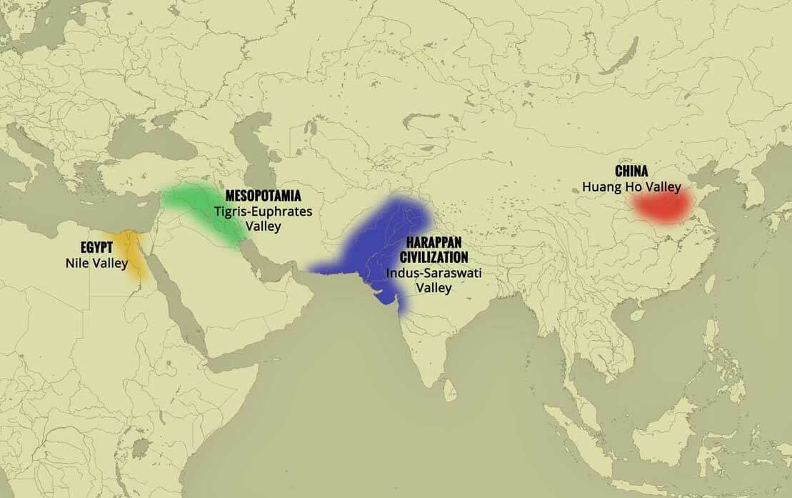 indus valley civilization map - 1024×644