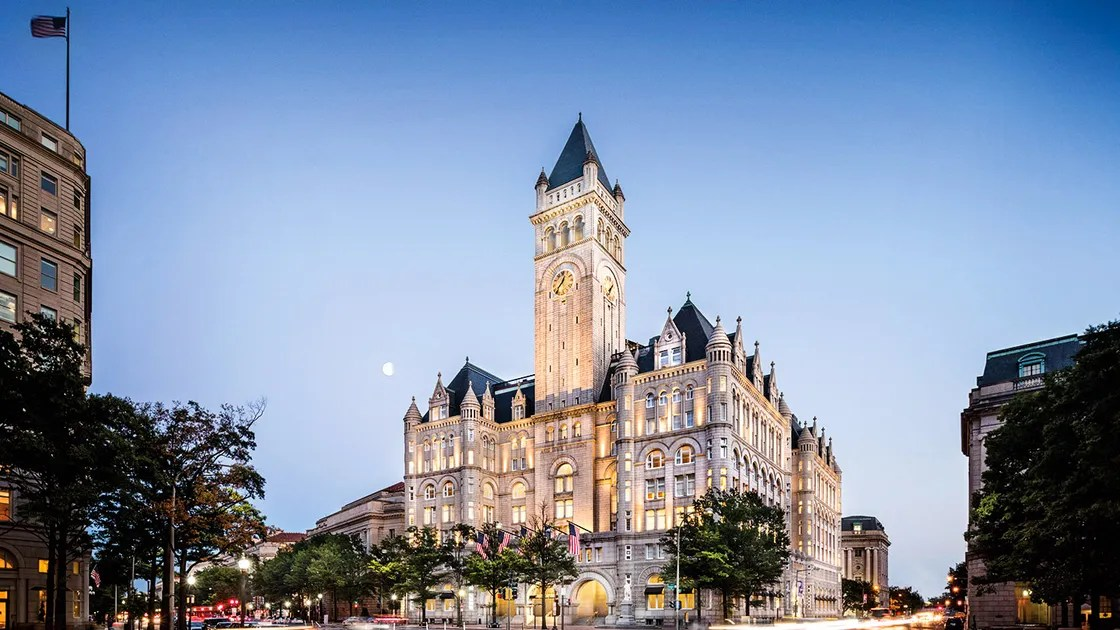 Trump S D C Hotel Is A Frightful Dump And A Scary
