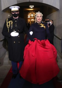 lady gaga wears a schiaparelli confection to sing at joe biden s inauguration vanity fair