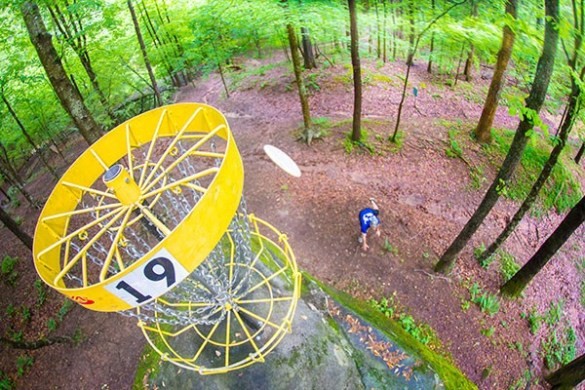 Charlotte  the Mecca of disc golf   Cover   Creative Loafing Charlotte A hole at Brackett s Bluff that sits atop a large rock is known as    El  Bastardo    and can run up the score on even the best players   Photo by  Brian Twitty