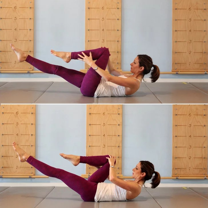Single Leg Stretch For Stronger Abs Add This 2 Minute