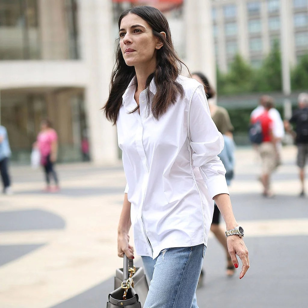 Fashionable Ways to Style a Button Down Shirt   POPSUGAR Fashion Fashionable Ways to Style a Button Down Shirt