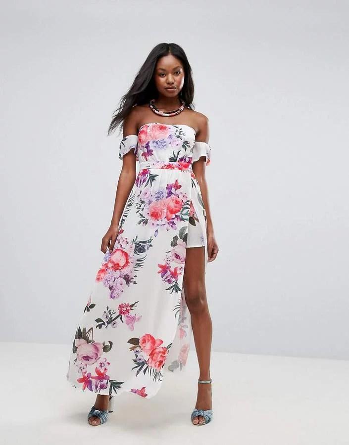 73d341201437 Off Shoulder Dress With Flowers | Gardening: Flower and Vegetables