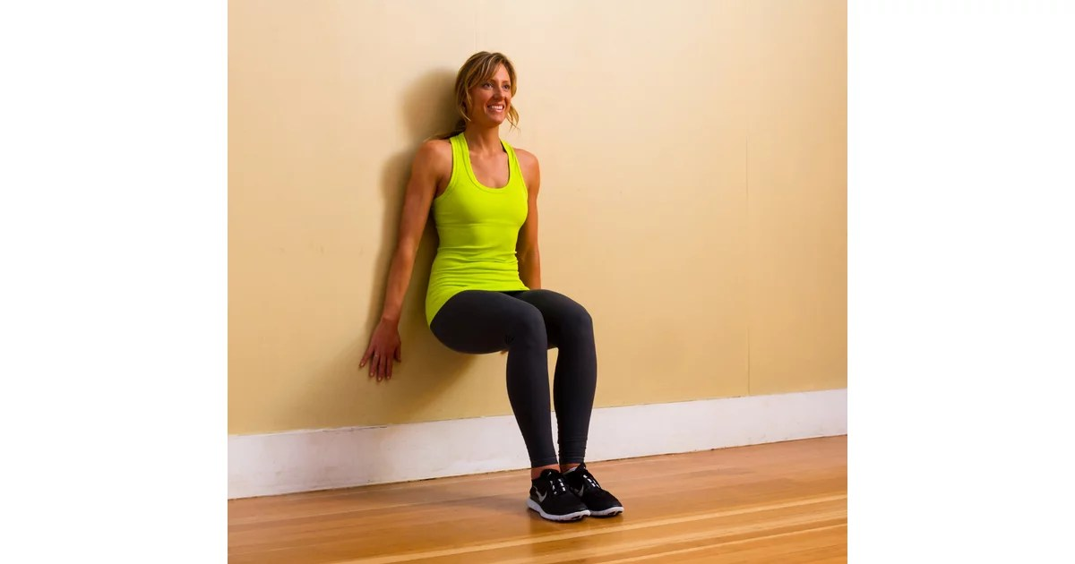 Lower Body: Wall Sit | Body-Weight Exercises You Can Do at ...