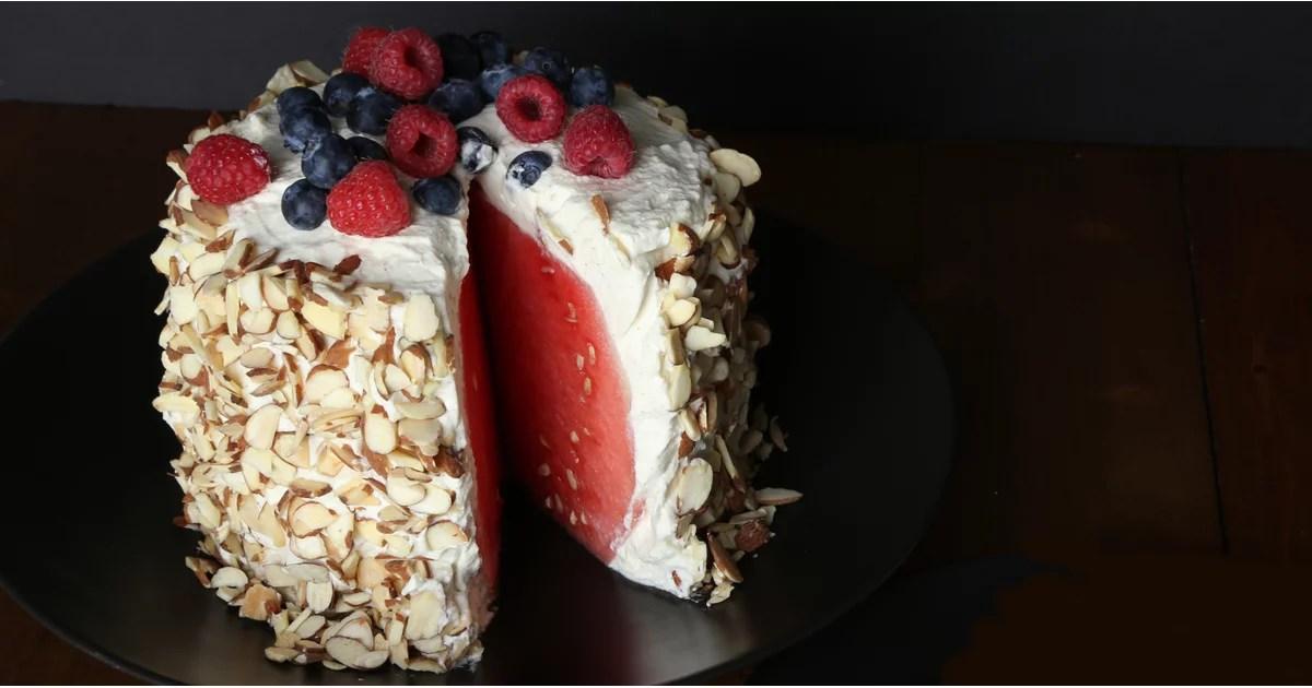 No Bake Watermelon Cake Recipe Popsugar Fitness Australia