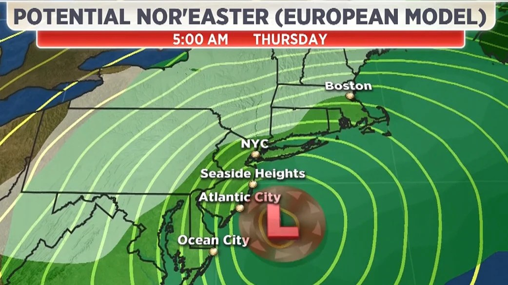 Noreaster Storm East Coast