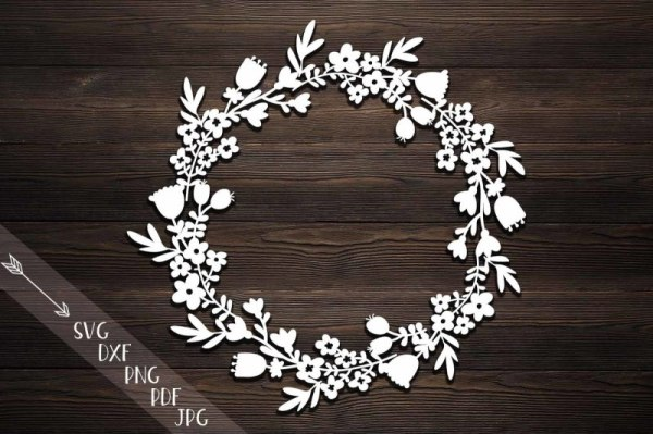 wreath template free svg # 1