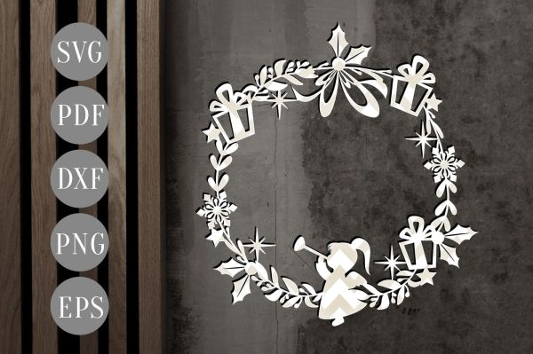 wreath template pdf # 6