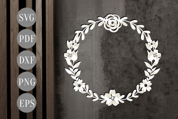wreath template pdf # 3