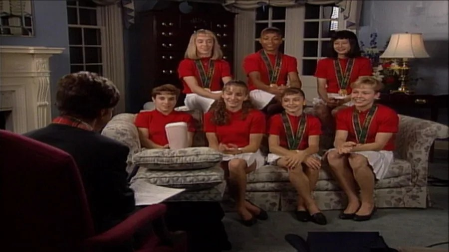 'Magnificent Seven' US gymnastics team revisits 1996 ...