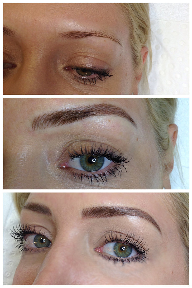 Here are my brows after my first touch-up appointment (in ...
