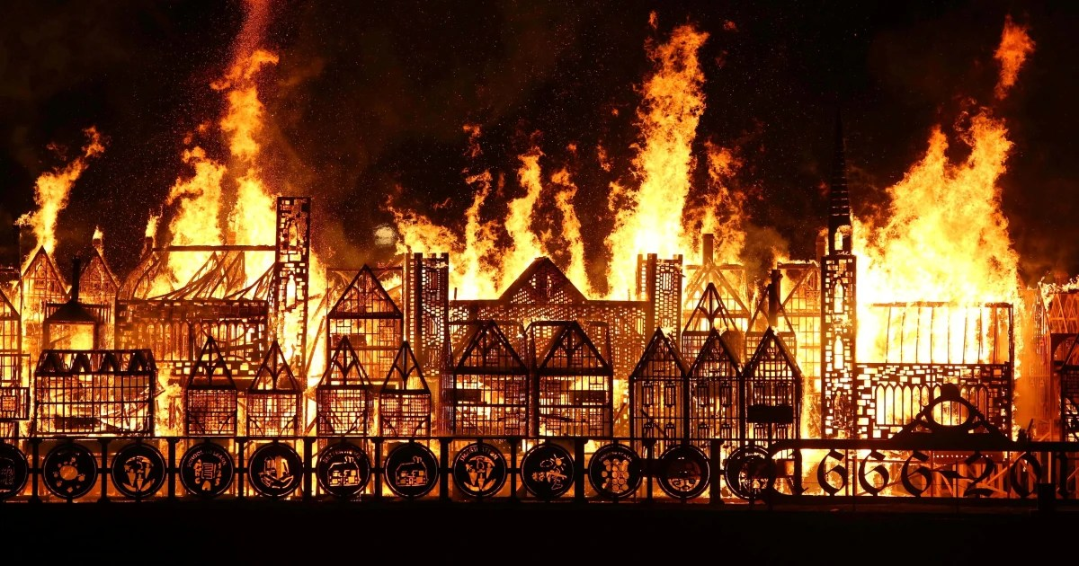 Anniversary Of Great Fire Of London Marked Nbc News