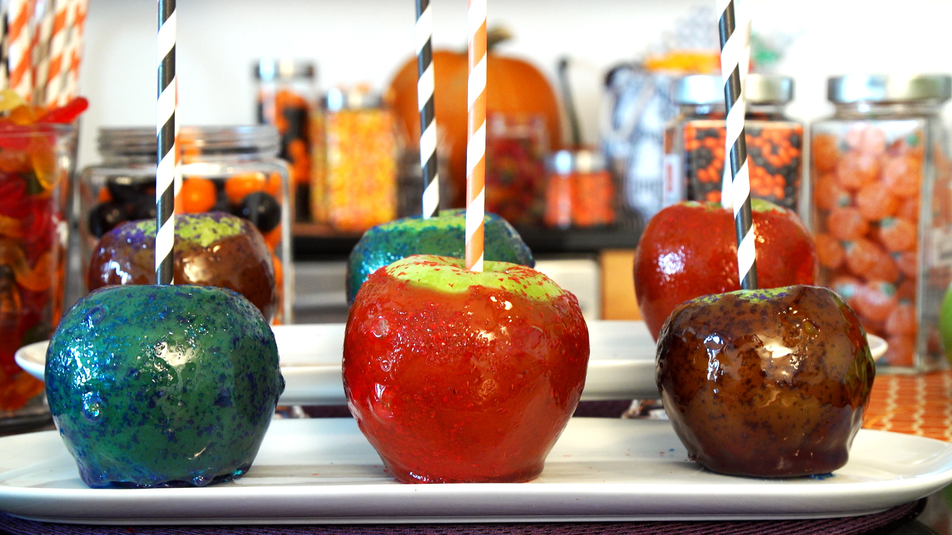 Edible Glitter Candy Apples Halloween