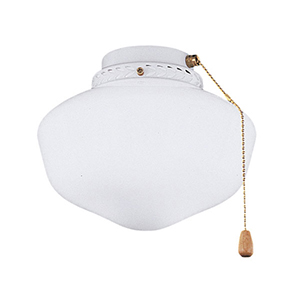 Shop  Ceiling Fan Light Globes Stained Glass   Bellacor Schoolhouse Globe Appliance White Fluorescent One Light Ceiling Fan Kit  with Opal Matte Glass
