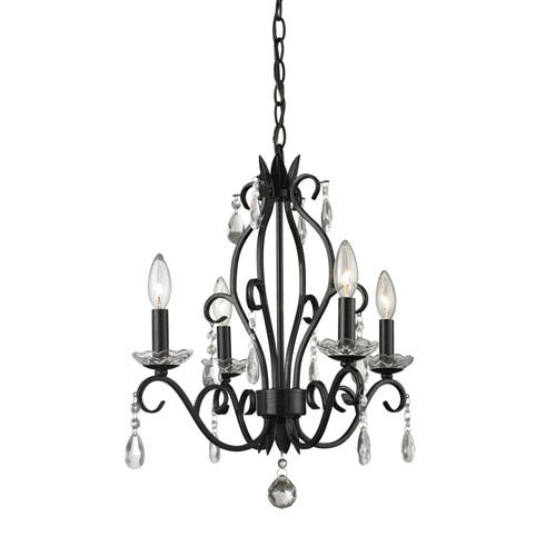 small black crystal chandelier # 9