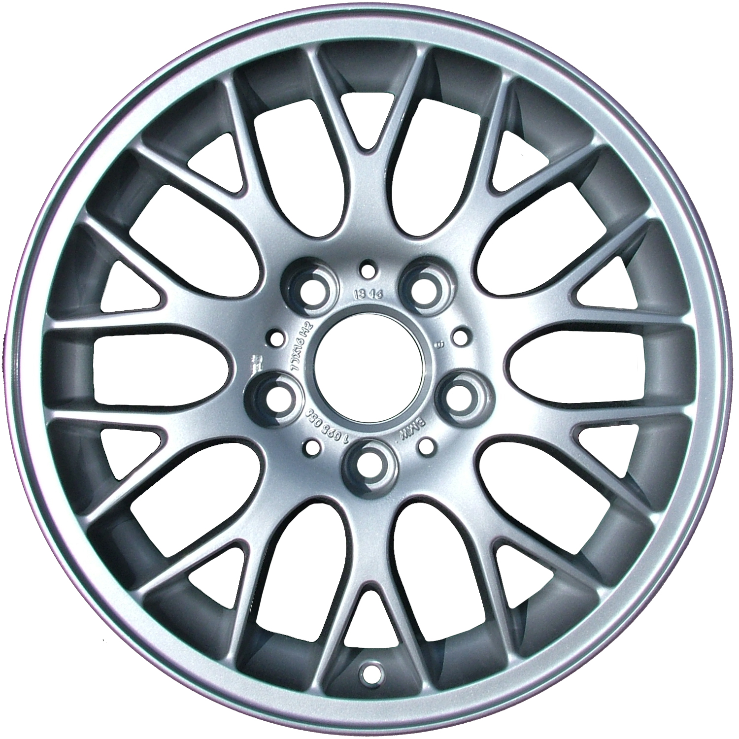 Oem reman 16x7 alloy wheel rim bright sparkle silver full face painted 59270