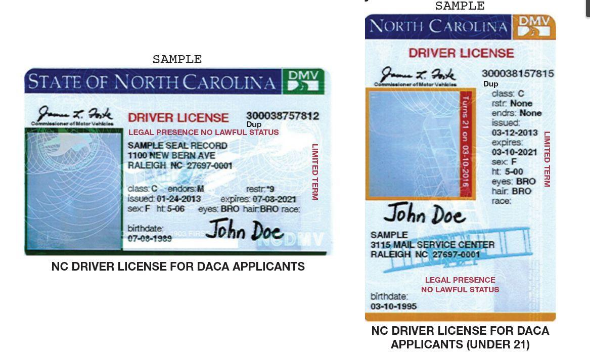 Carolina License Drivers North Drivers License Carolina 2013 North 2013
