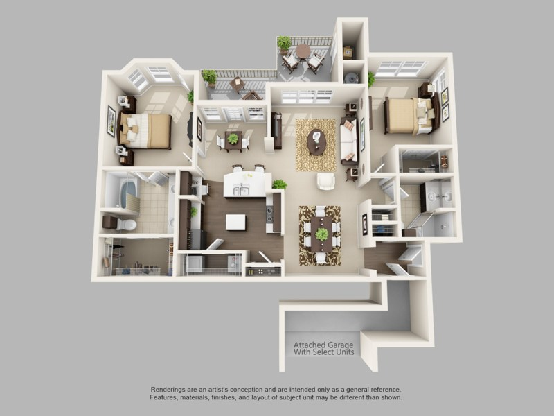 2 Bed   2 Bath Apartment in Colorado Springs CO   Talon Hill     for the The Anatole floor plan