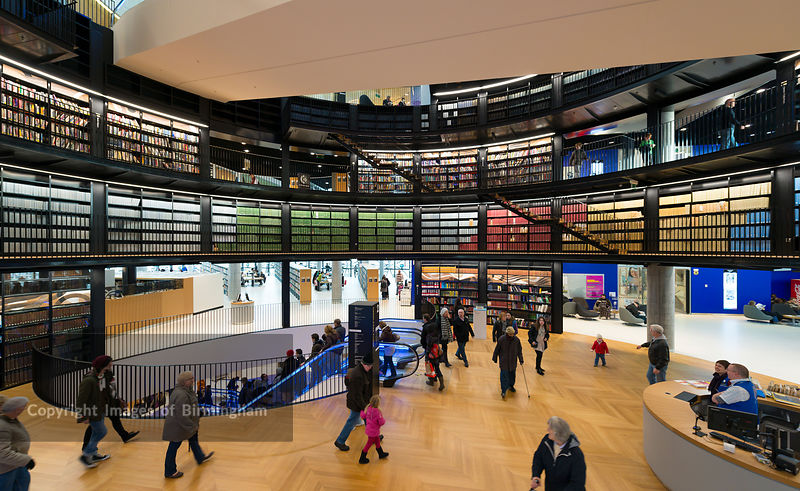 Images of Birmingham Photo Library The interior of the new Library     The interior of the new Library of Birmingham  England