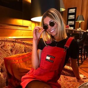 The Dress Overalls Red Tommy Hilfiger Worn By Alexandra Rosenfeld, On His  Account Instagram @alexandrarosenfeld | Spotern