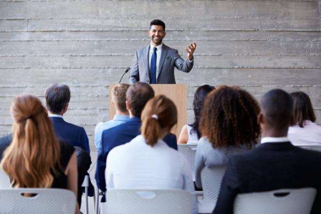 Speech voor het publiek