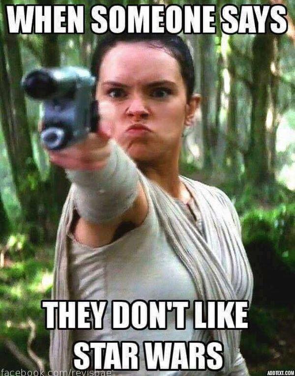 Wars Star Meme Rey Birthday