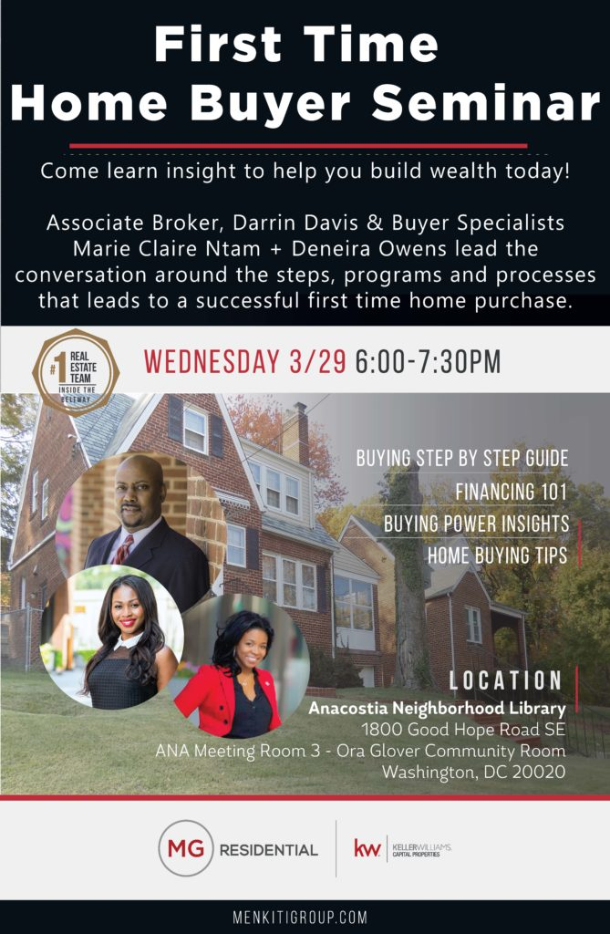Anacostia River Properties Presents First Time Home