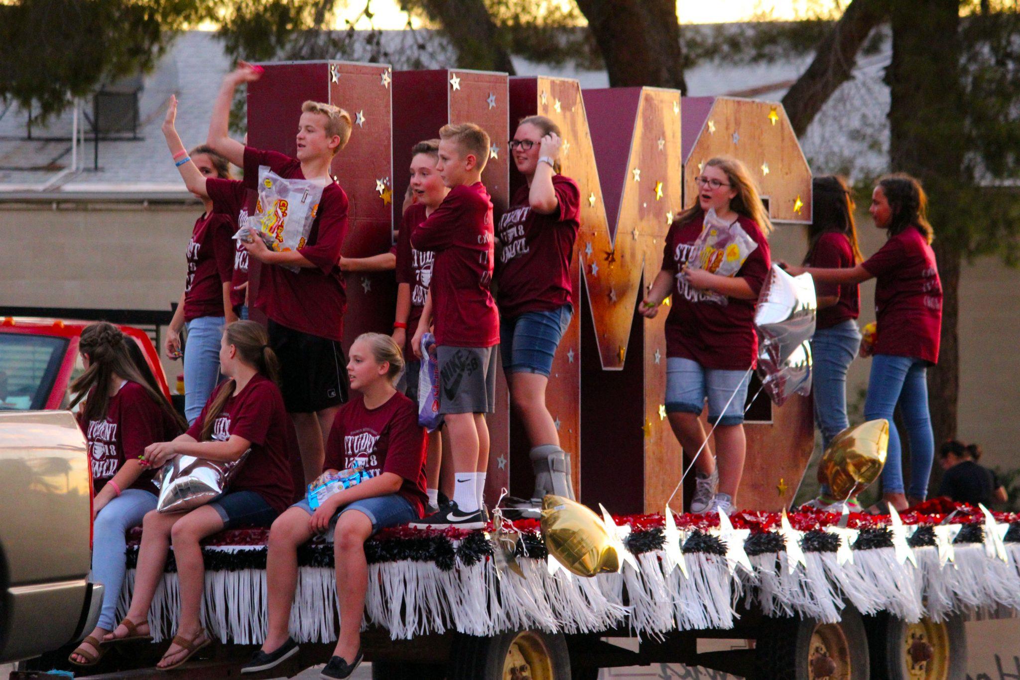Virgin Valley High School Homecoming Parade Mesquite