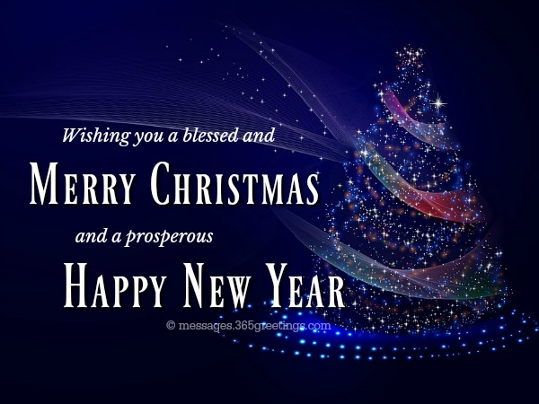 Merry Christmas Happy New Year Wishes Message