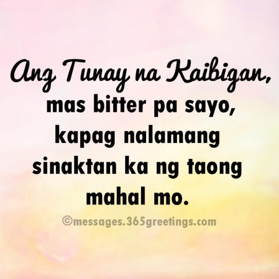 Tagalog Na Kaibigan Para Tunay Quotes Sa