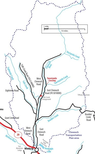 Map Of Methow Valley Road