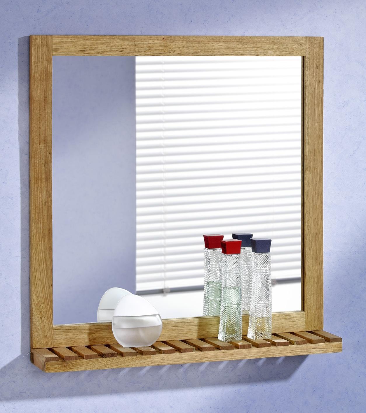 Wandspiegel mit Ablage, 60x63, Walnuss Holz Spiegel eBay