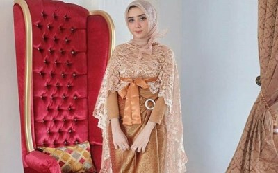 Model Gaya Baju Pesta Brokat 1