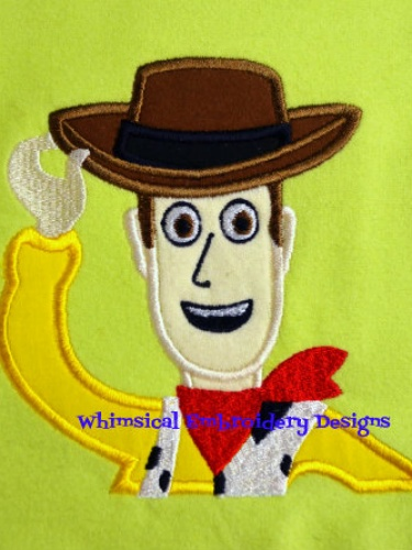 Woody Toy Story Applique Machine Embroidery Design Instant