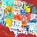 HD Decor Images » Design Turnpike License Plate Art Large USA Map      License Plate Art   Medium USA Map