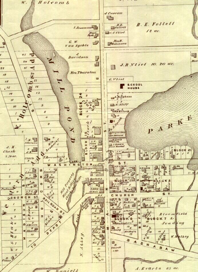 2 Map Of Clarkston Mi Michigan History