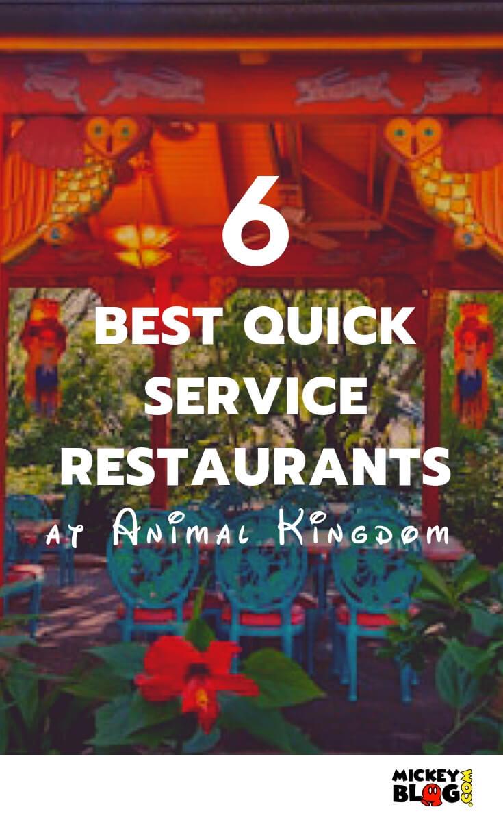Best 6 Quick Service Restaurants At Animal Kingdom