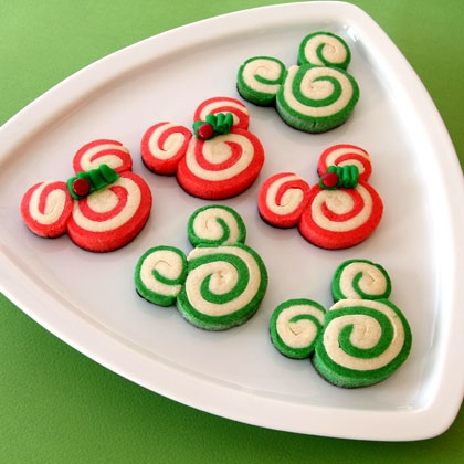 Mickey Peppermint Swirl Cookies