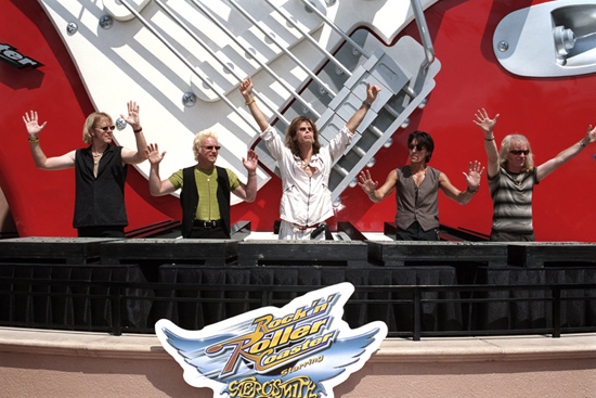 Aerosmith Rock 'n' roller coaster