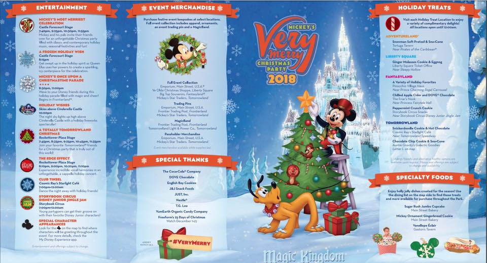 Mickeys Very Merry Christmas Party Merchandise.Look Inside The Guide Map For Mickey S Very Merry Christmas