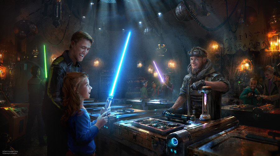 Star Wars Land Lightsabers