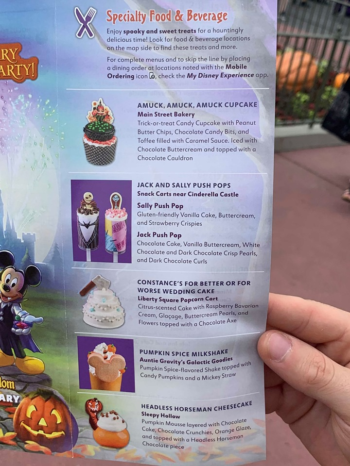 Mickey's Not So Scary Halloween Party Guide Map
