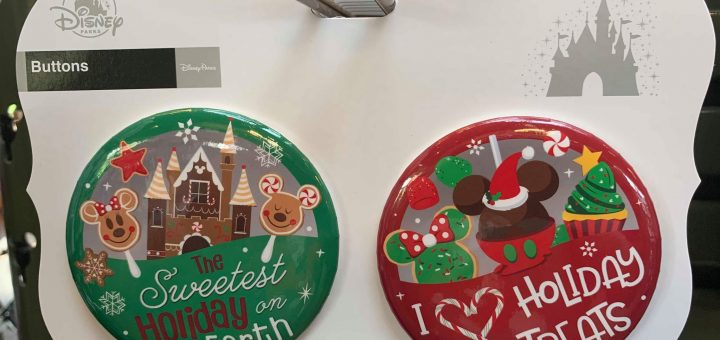 Disney Christmas Buttons