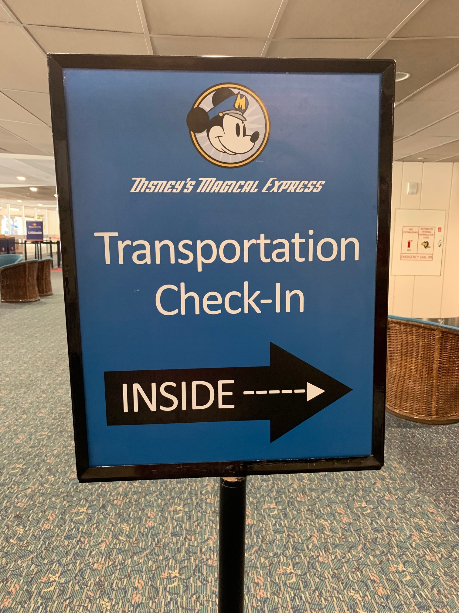 Magical Express sign